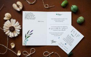 ślubne koronkowe zaproszenie