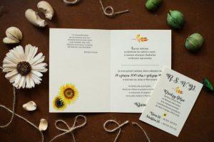 ślubne zaproszenie rustykalne